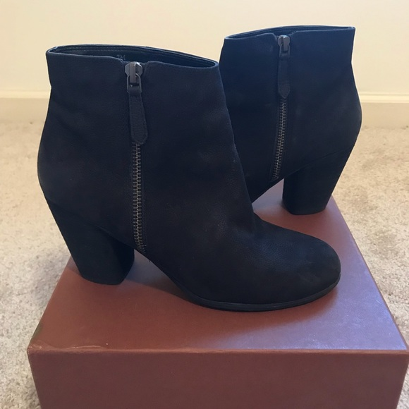 "4afdd0b2ee1f BP ""Trolley"" black sueded leather bootie size 7"
